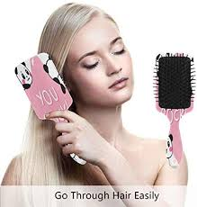 <b>Cute</b> Cartoon <b>Panda Art Prints</b> Hair Brush Comb Scalp Massage Air ...