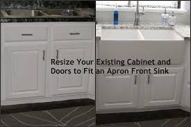 called diy resize your existing cabinet and doors fit farmhouse sink with white cabinets a words