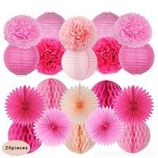 Tissue Paper Pom Poms Flower Balls 20pcs Mixed Colors Tissue Paper Pom Poms Flower Ball For Birthday Wedding Party And Festival Outdoor Decoration Woyjukc85