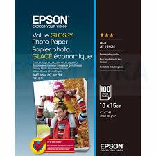 400039 <b>Фотобумага EPSON Value Glossy</b> Photo Paper 10x15 (100 ...