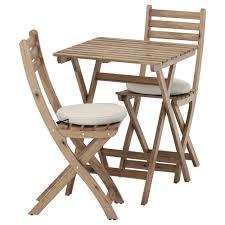 askholmen table 2 chairs outdoor askholmen grey brown ytterön blue ikea