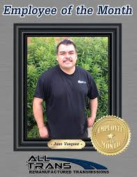 Employee Of The Month Photo Frame Employee Of The Month All Trans Remanufacturing