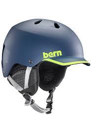 Bern Watts Snowboard Helmet For Men Blue Planet Sports