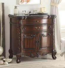 traditional style antique white bathroom: adelina  inch antique mahogany bathroom sink vanity