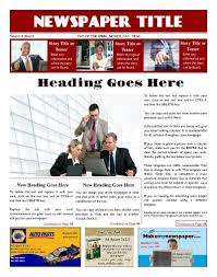 Free Front Page Newspaper Template Three Column Newsletter Template 11 Best Business Newspaper