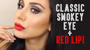 clic smokey eye red lip pretty on everyone