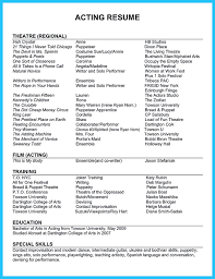 Example Acting Resume With Headshots Unique Theater Theatre New