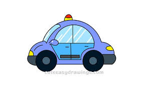 how to draw a cartoon police car step