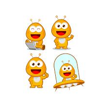 Cartoon Designs Alien Cute Character Cartoon Mascot Logo Designs Download