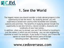 argumentative essay on study in abroad