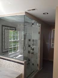 Fully enclosed shower with venting. Great for a Steam Shower!