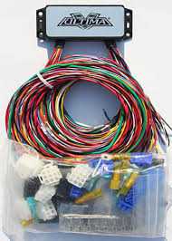 ultima plus compact electronic wiring harness kit bobber chopper universal motorcycle wiring harness kit at Chopper Wiring Harness