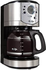 Coffee espresso and cappuccino maker, $125 (was $200), amazon.com. Amazon Com Mr Coffee 12 Cup Programmable Coffee Maker With Brew Strength Selector Bvmc Cjx31 Am Kitchen Dining