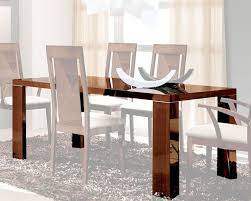 High Gloss Dining Table Dining Table In High Gloss Walnut Finish 33d62