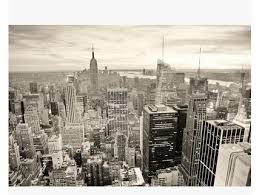 new york black and white city night view mural wallpaper living room bedroom tv background wallpaper