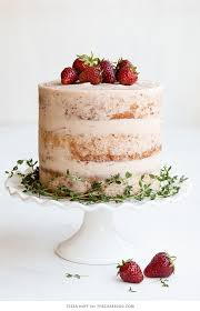 Strawberry Thyme Cake Cake Recipes Cake Cake Flavors Cupcake Cakes