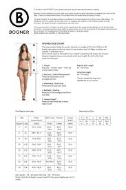 Bogner Fire And Ice Size Chart Luna Pant