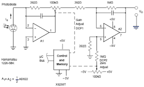 electronic circuits schematics diagram electronics projects photovoltaic transimpedance amplifier circuit diagram