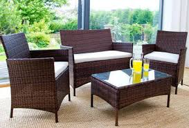 rattan garden furniture images. Simple Furniture 4PC Rattan Garden Furniture Set U2013 Brown Or Black0 In Images