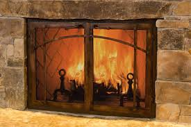how to clean glass door of fireplace insert custom screens how to clean glass door of