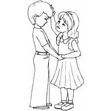 More than 600 free online coloring pages for kids: Kids Couple Coloring Sheet