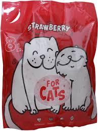 Силикагелевый <b>наполнитель For Cats</b> с ароматом клубники, 8 л ...