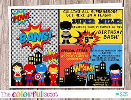 Superhero Birthday Party Invitations Superhero Birthday Party
