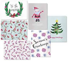 Amazon Com 48 Pack Holiday Greeting Cards 6 Christmas Designs