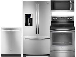 Stainless Kitchen Appliance Packages Kitchen 4 Piece Stainless Steel Kitchen Appliance Package 00006