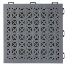 greatmats staylock perforated gray 12 in x 12 in x 0 56 in pvc