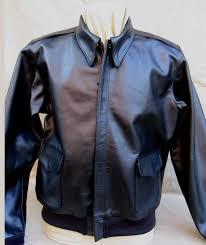 a 2 flight jacket black horsehide lost worlds