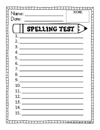 Spelling Test Template FREE Spelling Test Template by One Extra Degree TpT 2