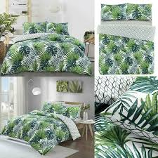 tropical palm duvet cover with