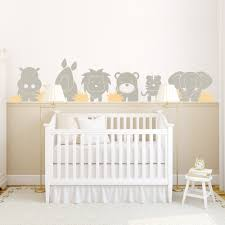 on baby room wall decor stickers with zoo babies wall decal