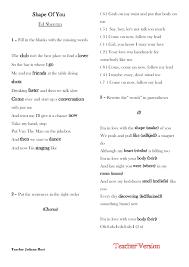 1,788 FREE ESL Songs For Teaching English Worksheets