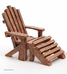 mini adirondack chair unique miniature fairy garden adirondack chair in brown