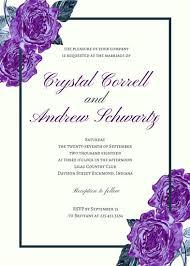 Wedding Invitations Templates Purple Floral Purple Wedding Invitation Templates By Canva