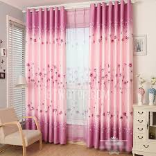 Incredible Decorative Pink Purple Polyester Floral Pattern Girls Bedroom  Curtains Girls Bedroom Curtains Remodel