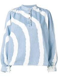 Light Colored Tie Dye Shirts Ganni Acadia Tie Dye Shirt Products In 2019 Dye Shirt