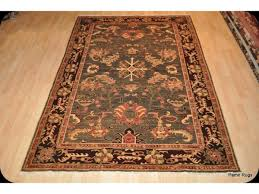 dark green 6 x 9 fine quality handmade persian rug