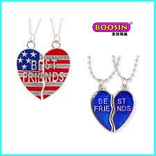 china custom design enamel broken heart pendant necklace for friends jewelry china pendant necklace heart pendant necklace