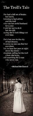 best gothic poetry literature board images  poem the troll s tale by michael mcclintock american neo gothic literature