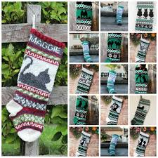Knitting Pattern Collection Of 16 Cat Christmas Stockings Charts Fair Isle With Detailed Instruction For Personalized Cat Socks Pdf Only