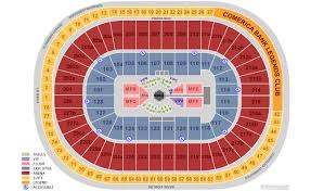 Joe Louis Arena Seating Chart With Rows Seat Number Little Caesars Arena Seating Chart