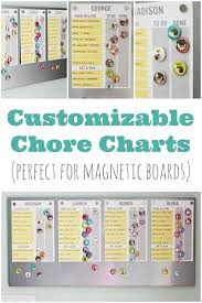 Magnetic Chore Chart Buttons Free Printable Chore Chart Customizable Too Chore Chart