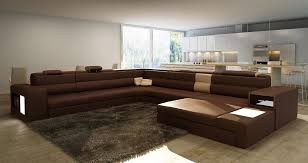 brown leather sectional couches. Brown Large Sectional Leather Couches