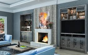 los angeles rustic entertainment center living room eclectic with