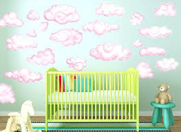 cloud wall decals for nursery pink clouds decal