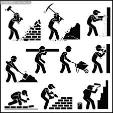 建筑工人人物剪影图片素材 剪影人物 百图汇素材网