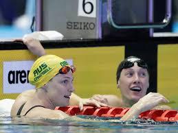 Maddie Groves holds off Katie Ledecky ...